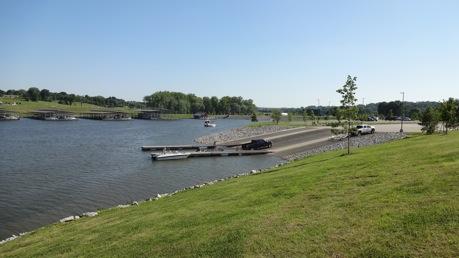 Clarksville Marina boat ramp and docks