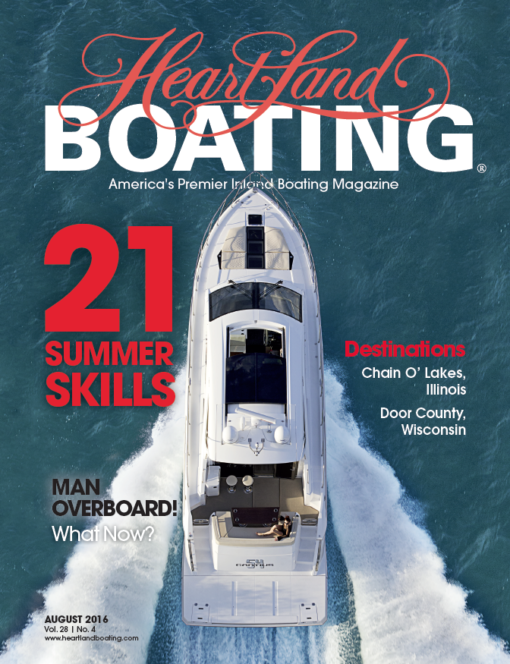 August 2016 HeartLand Boating magazine cover