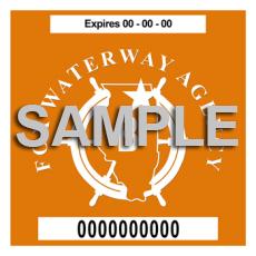 Fox Waterway Sticker