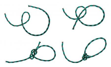 Tying a bowline knot