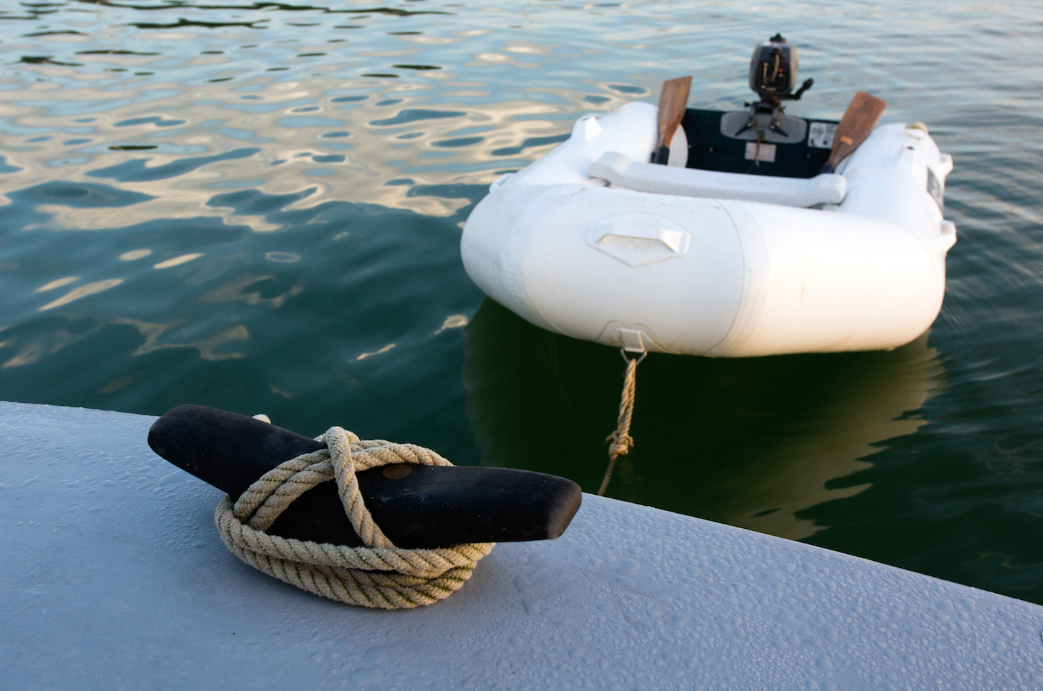 Towing a dinghy
