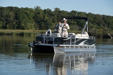 Qwest 7518 fishing pontoon