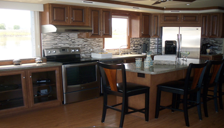 Skipperliner galley featuring new interior design.