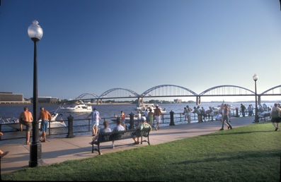Quad Cities waterfront with boats