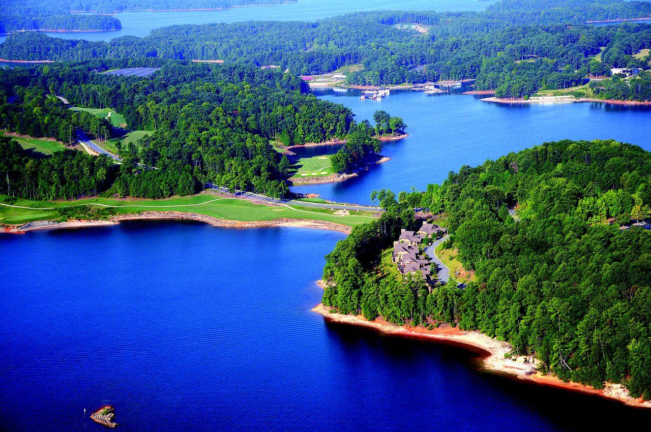 Lake Lanier aerial image