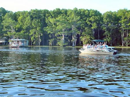 Caddo Lake boaters