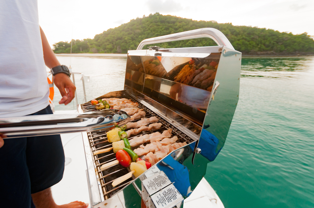 Barbecuing on Your Boat