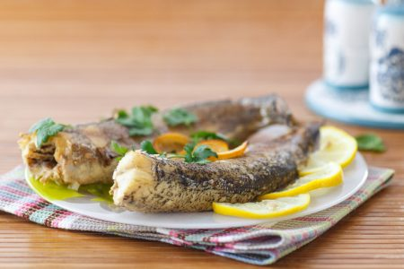 Baked walleye