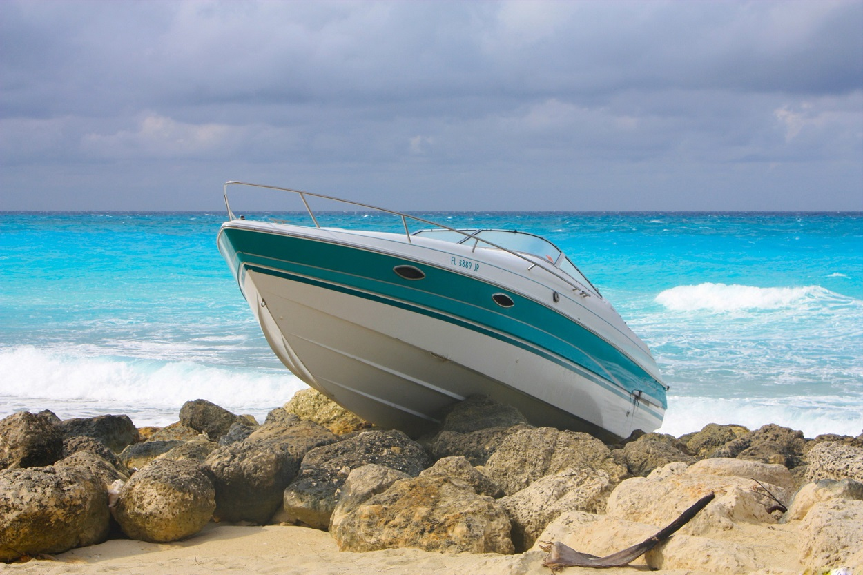 Boat run aground