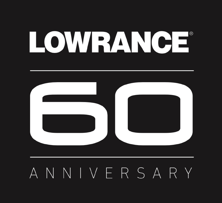 Lowrance 60th Anniversary logo