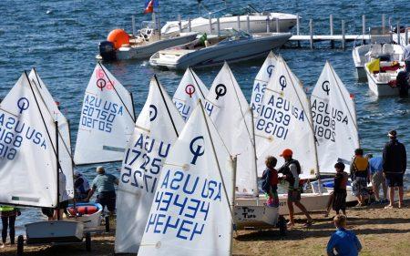 Sailing regatta at Iowa Great Lakes by David Thoreson