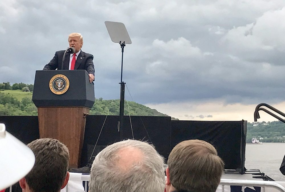 Trump Touts Inland Waterway Improvements