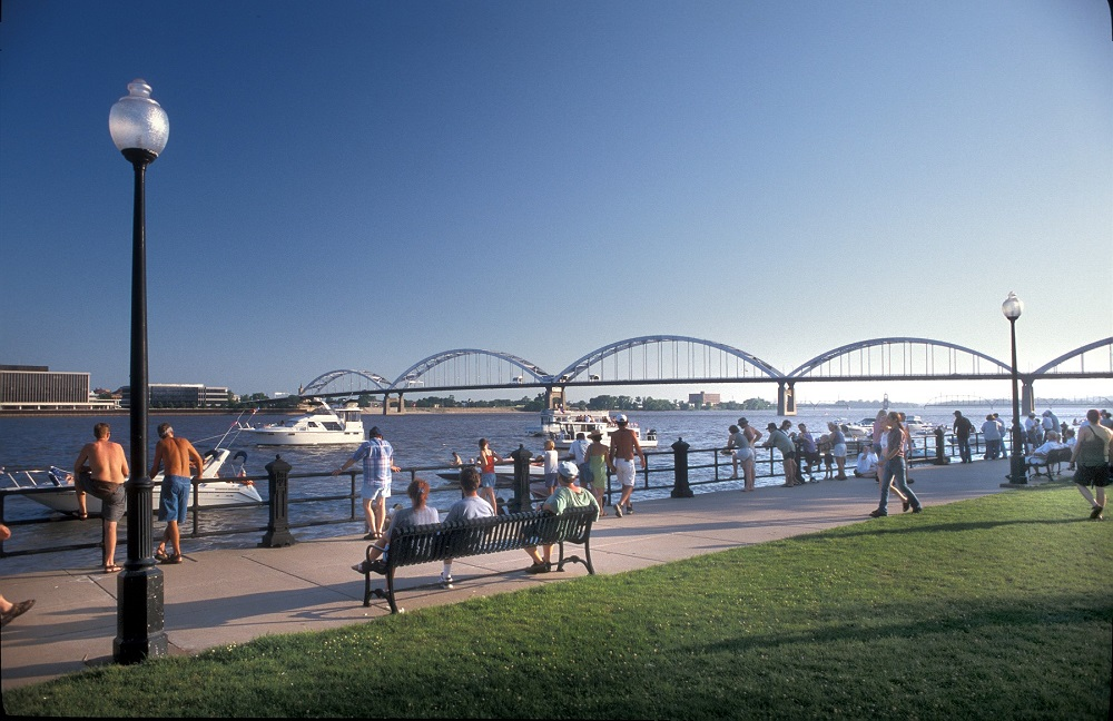 LeClaire Park in Davenport, Iowa