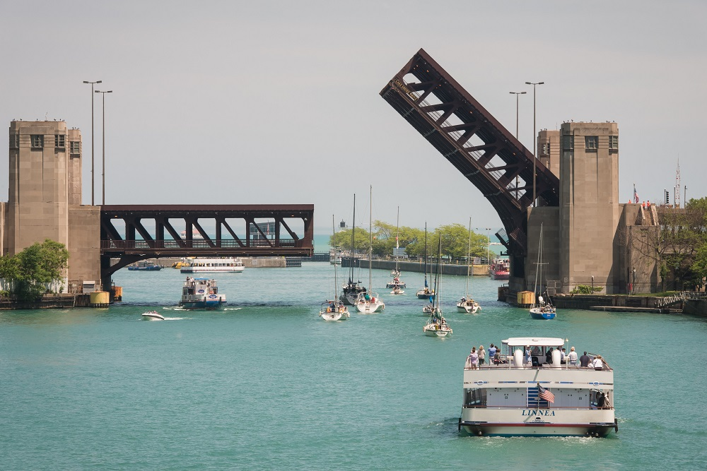 Chicago's Outer Drive Bridge